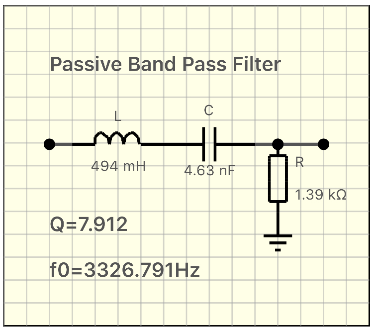 Passive Band Pass Filter
