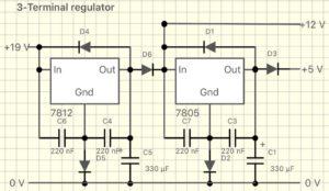 複合三端子レギュレータ