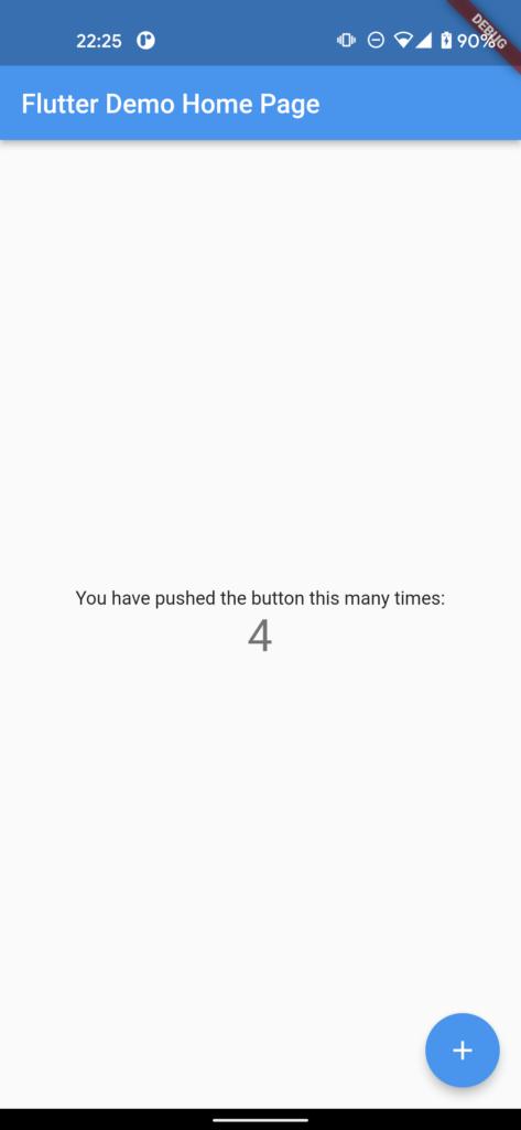 Flutter Default Application for Android