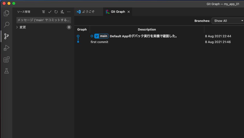 VisualCodeでGit